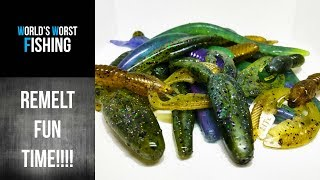 REMELT-MANIA..Using Some Old Remelt To Make Fishing Lures