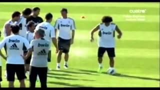 Marcelo owns Cristiano Ronaldo , Mesut Özil and Gonzalo Higuain 2011/2012 HD