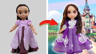 SOFIA PRINCESS PROM DRESS UP AND MAKEUP FOR ROYAL PARTY 💄👗 Disney Doll Cartoons & Crafts