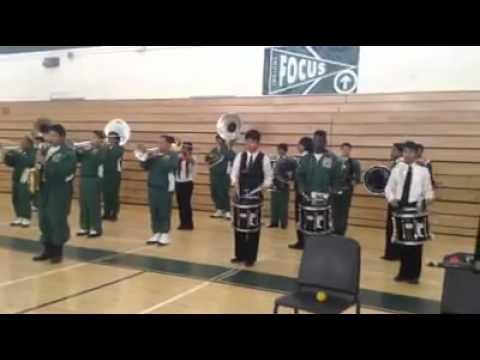 "Cross Keys High School Band ""locked out of heaven"""