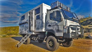 Graphic Designer Builds Custom 4x4 FUSO Overland Tiny Home for World Travel