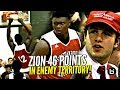 Zion Williamson 46 POINTS vs  Jalen Lecque in SEASON OPENER!! Makes NC Hoops HISTORY!!