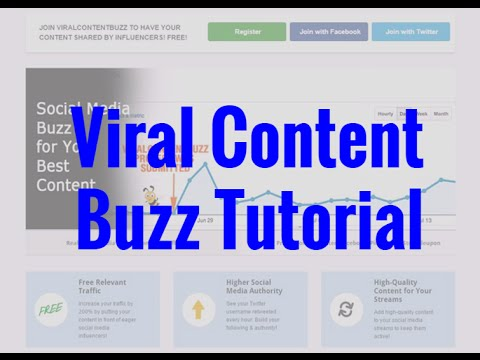Viral Content Buzz Review And Tutorial