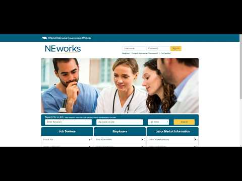 How to get registered on NEworks.nebraska.gov