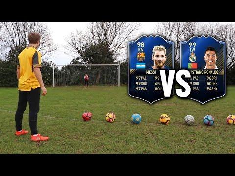 MESSI VS RONALDO TOTY SHOOTING CHALLENGE | Football's Top Drawer #3 - FIFA 17