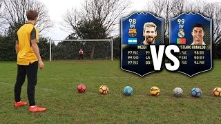 MESSI VS RONALDO TOTY SHOOTING CHALLENGE | Football's Top Drawer #3 - FIFA 17