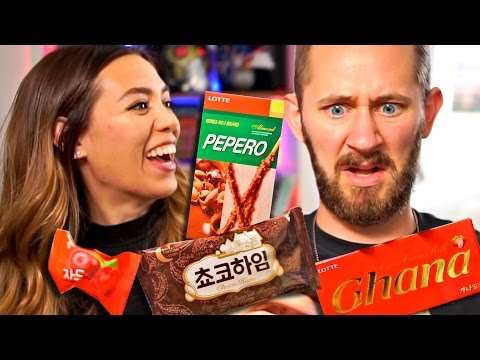 AMERICANS TRY KOREAN FOODS