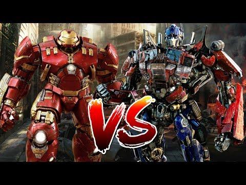 Hulkbuster (MCU) VS Optimus Prime (Movie)   Who Wins?