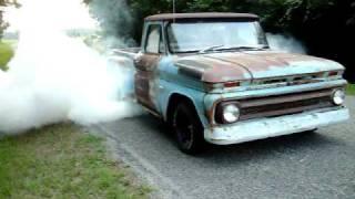 66 Chevy C10 Burnout