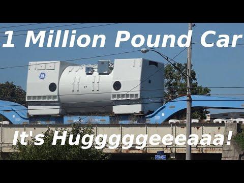Giant  1 Million Pound Limit Cars on Special CSX  Freight Train