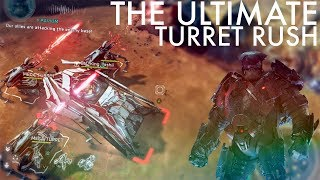 Halo Wars 2 - The Ultimate Turret Rush! That one time its fun to pick random all...