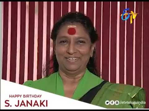 Dr. S Janaki singing in different voices