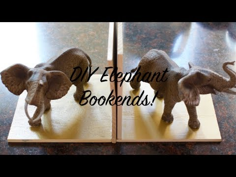 Dollar Store DIY Ep  29 - How To Make Animal Bookends