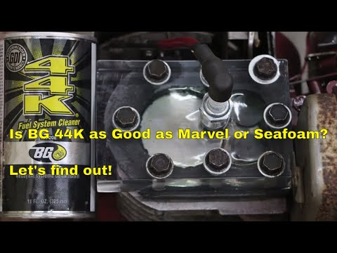 Is BG 44K as Good as Seafoam or Marvel Mystery Oil in a Gas Engine?  Let's find out!