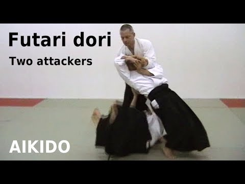 Aikido - FUTARI DORI (ninin dori), two attackers, by Stefan Stenudd