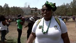 Nthabiseng Molefe Interview on the #FeesMustFall protest at Union Buildings.