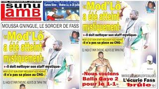 """Revue de presse Lutte TV du vendredi 18 janvier 2019, Fass brûle, le sorcier Gningue """"Mod'Lô a..."""""""