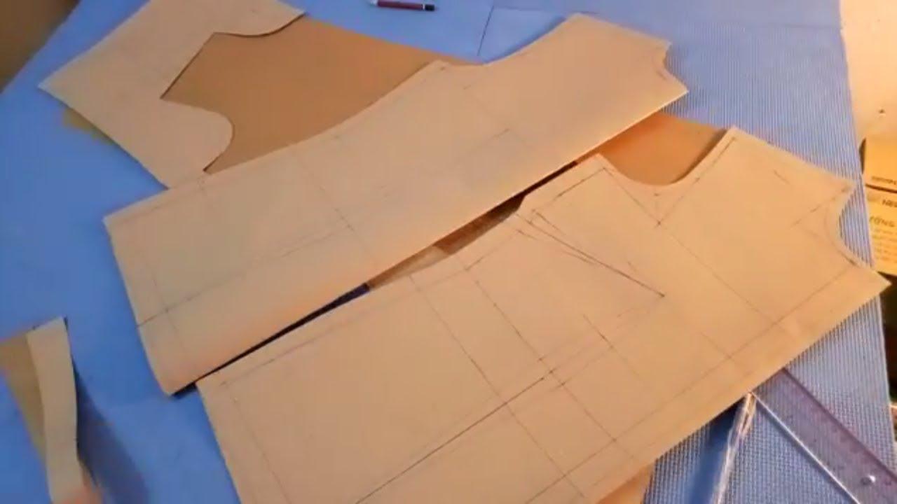 dạy cắt may cơ bản: hướng dẫn cách cắt áo sơ mi nữ cơ bản có li banh