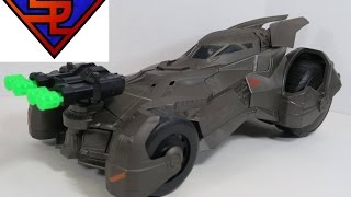 Batman V Superman Dawn of Justice Epic Strike Batmobile Vehicle Movie Toy Review