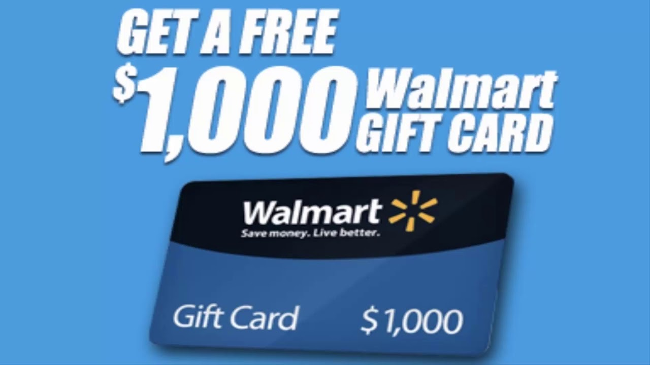 Complete Survey Get A 1000 Walmart Gift Card Youtube