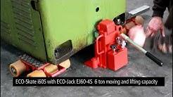 Machine Mover Moving 2 Ton Lathe with 3-point HTS ECO-Skates and 6-ton ECO-Jack