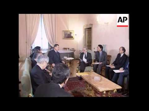 ITALY: ROME: JAPANESE PM MORI MEETS PM GIULIANO