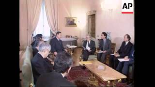 ITALY: ROME: JAPANESE PM MORI MEETS PM GIULIANO