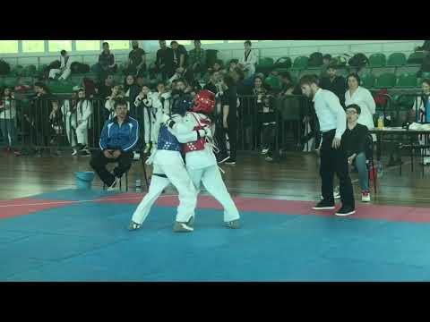 Первенство Дагестана юноши (2005-2007) г. Рабаданова Саният & Гусейнова Хава 37 кг.