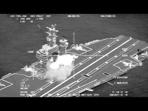 ARMA 3: Navy Ships destroyed by AC-130U - Gunship Gameplay