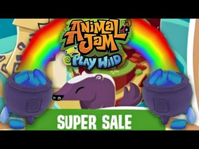 Super Sale & A Pot O' Sapphires! | Animal Jam Play Wild