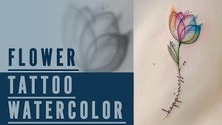 Tatuaggio Fiore Watercolor ink ( make tattoos )