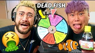 Spin The Wheel Experiment and EAT WHATEVER IT LANDS ON!!!!!