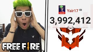 HOY LLEGAMOS HEROICO en FREE FIRE y a los 4 MILLONES! *épico*
