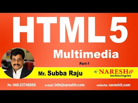HTML5 Multimedia Part 1 | Web Technologies Tutorial | Mr. Subba Raju
