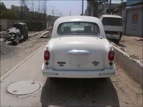 hindustan motors ambassador car ambassador grand crystal white youtube. Black Bedroom Furniture Sets. Home Design Ideas
