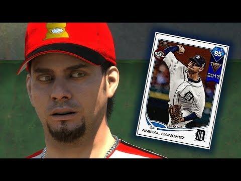 DIAMOND ANIBAL SANCHEZ TAKES THE MOUND!! MLB THE SHOW 18 DIAMOND DYNASTY
