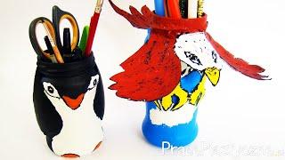 Jak ozdobić słoik?  Pingwin i orzeł