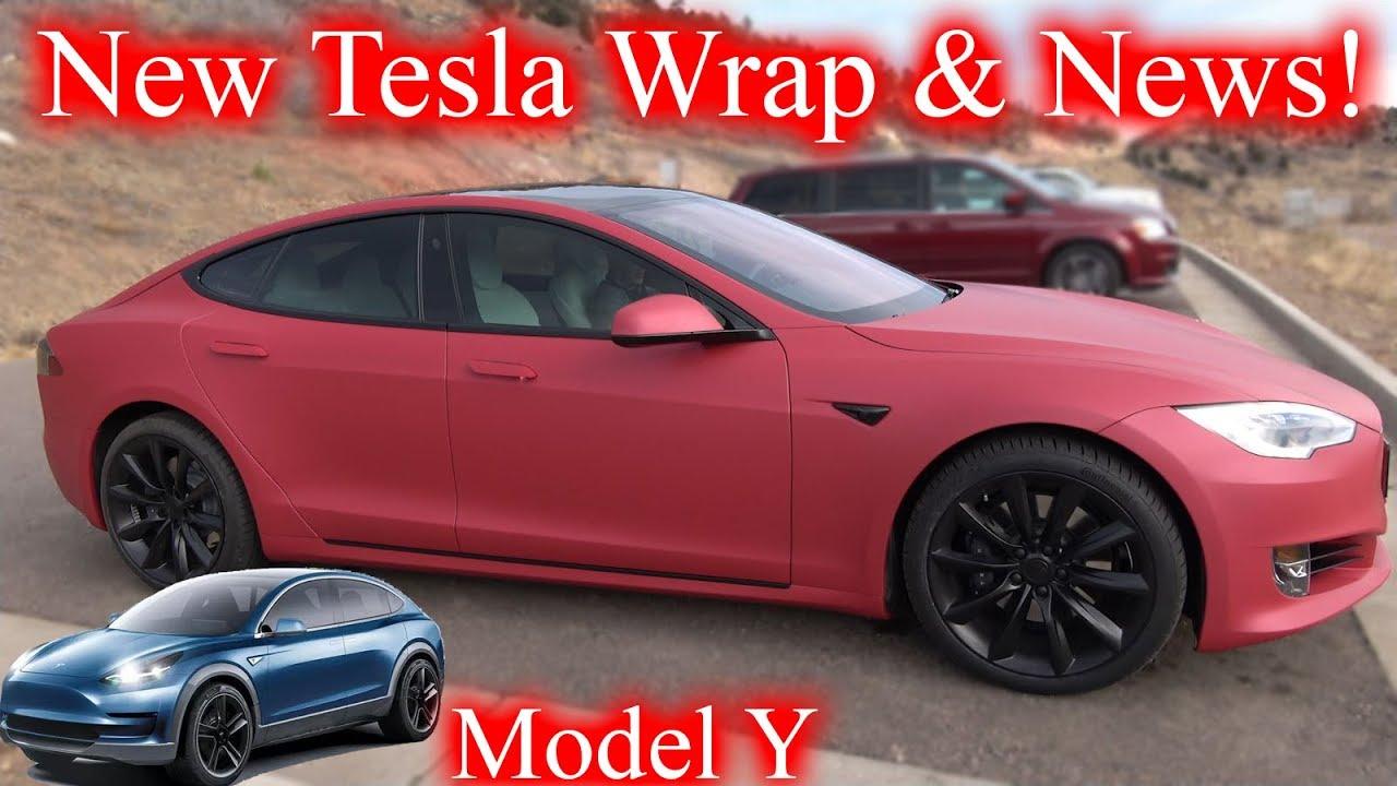 Tesla Model Y Pinterest: New Tesla Wrap! Tesla News & Model Y Unveiling!