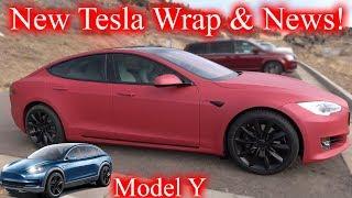 New Tesla Wrap! Tesla News & Model Y Unveiling!