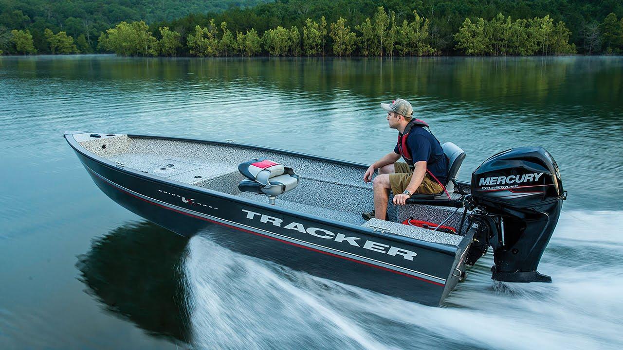 TRACKER Boats: 2016 Guide V-16 Laker DLX T Deep V Aluminum Fishing