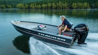 TRACKER Boats: 2016 Guide V-16 Laker DLX T Deep V Aluminum Fishing Boat