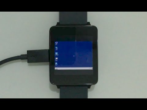 Windows 7 on Android Wear smartwatch