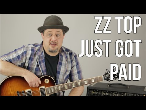 ZZ Top - Just Got Paid - How To Play On Guitar (Standard Tuning)  - Blues Rock Guitar Lessons