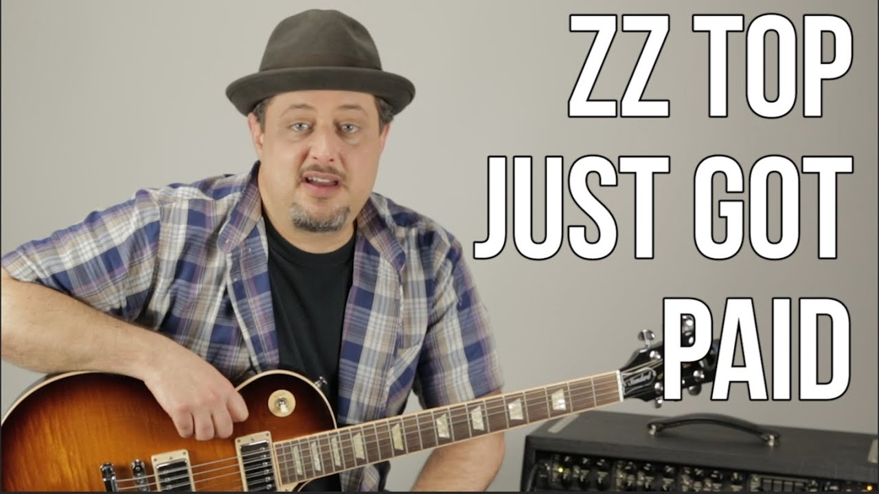 Zz Top Just Got Paid How To Play On Guitar Standard