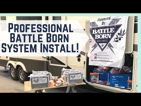 Our Lithium Battle Born Batteries System Install! || RV Living