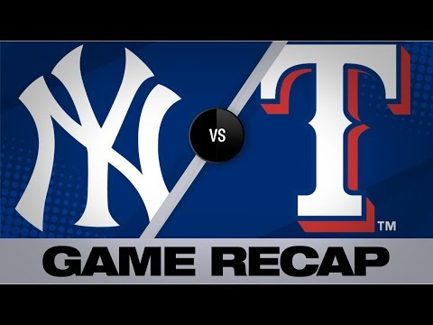 Yankees blast six homers in 14-7 win | Yankees-Rangers Game