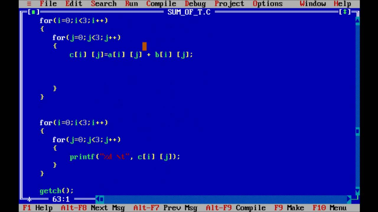C program to add two matrix