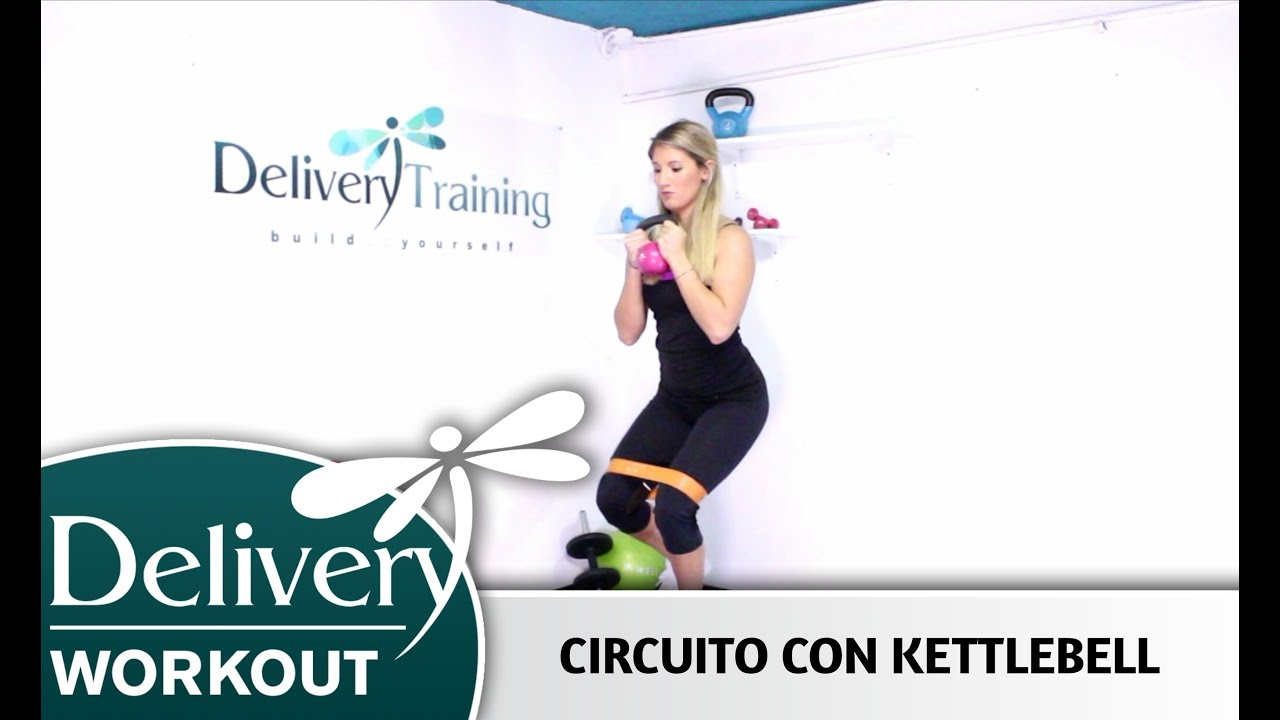 Circuito Kettlebell : Circuito con kettlebell donna delivery training youtube