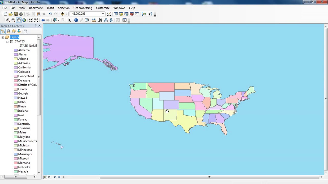 change ArcMap background color