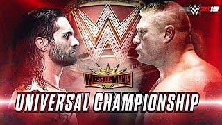 WWE Universal Championship Brook Lesnar VS Seth Rollins Full Match April 7, 2019! wrestlemania 2019